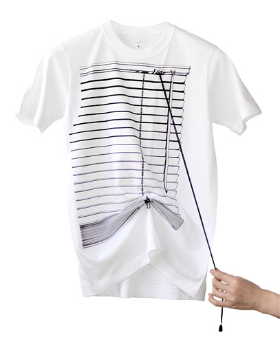 Photo1: SHIKISAI [Venetian Blinds] T-shirt (1)