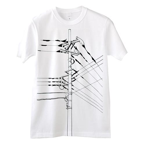 Photo1: SHIKISAI [Power Pole] T-shirt (1)